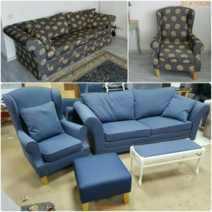Перетяжка дивана киев (15)