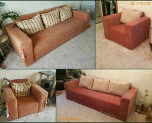 Перетяжка дивана киев (54)