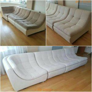 Перетяжка модульного дивана киев