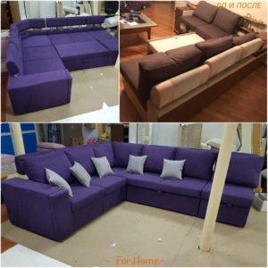 Перетяжка углового дивана киев